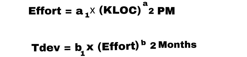 cocomo model cost formula