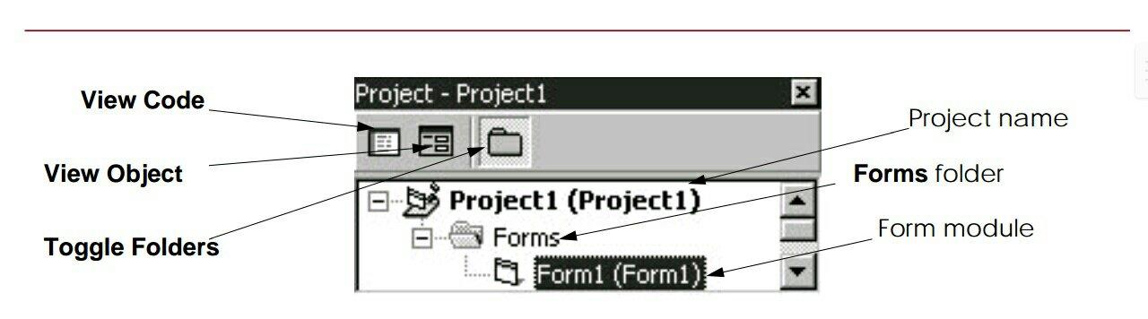 IDE project window in hindi