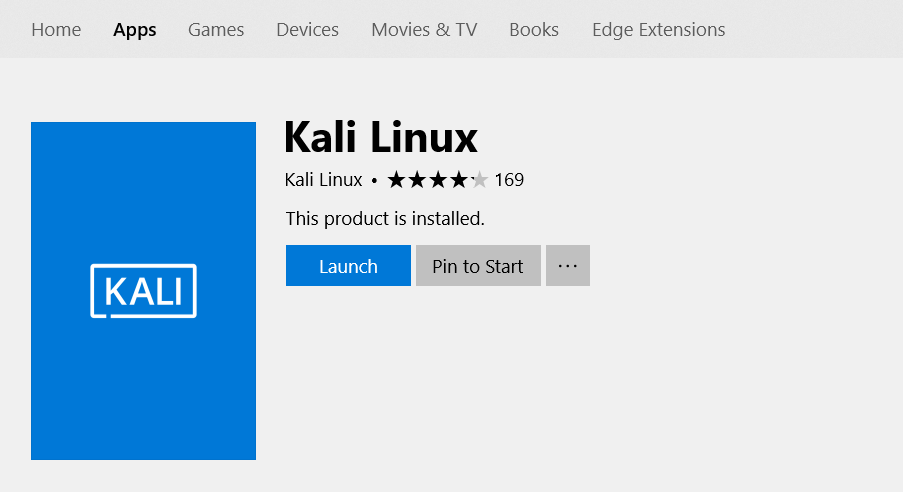 Launch kali linux