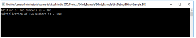 c# delegates example output in hindi